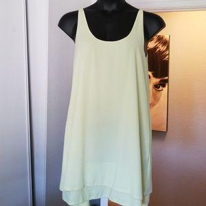 Rachel Roy size M 2 tier flowing sleeveless dress
